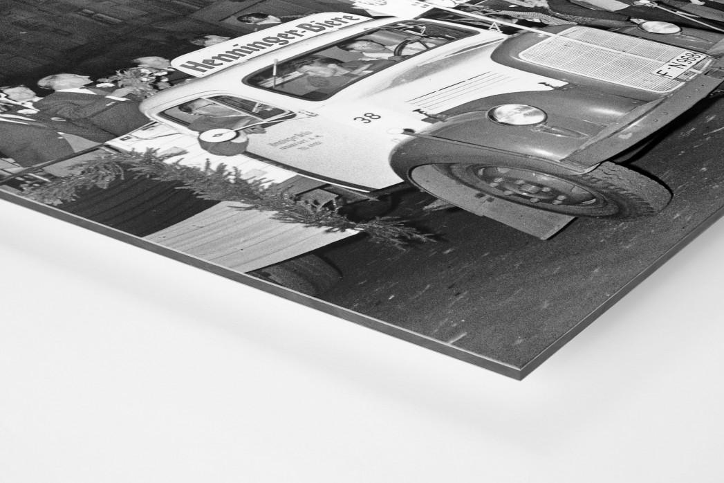 Empfang der Eintracht als auf Alu-Dibond kaschierter Fotoabzug (Detail)