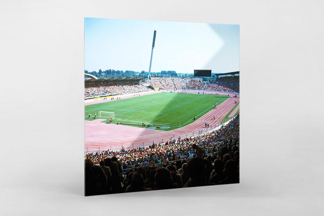 Niedersachsenstadion 1974 als Direktdruck auf Alu-Dibond hinter Acrylglas