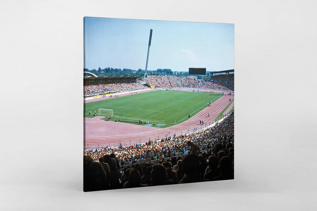 Niedersachsenstadion 1974 als Leinwand auf Keilrahmen gezogen