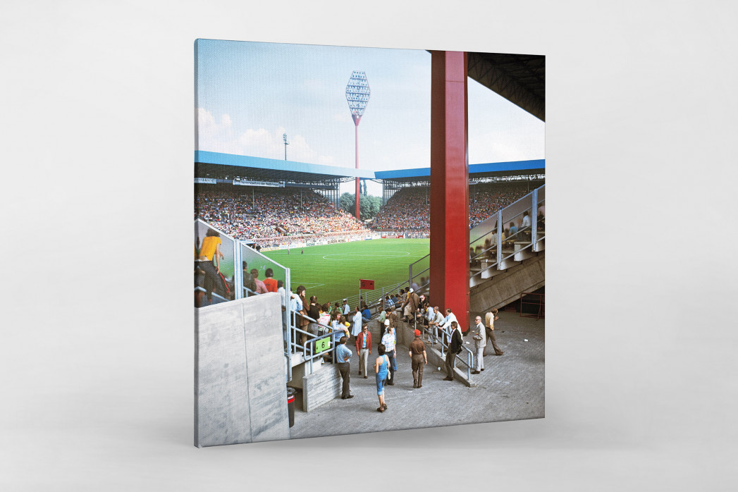 Westfalenstadion 1974 als Leinwand auf Keilrahmen gezogen