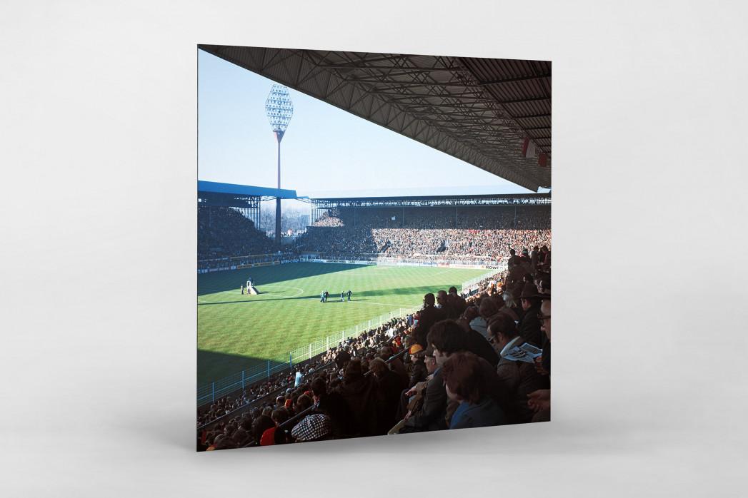 Westfalenstadion 1976 als auf Alu-Dibond kaschierter Fotoabzug