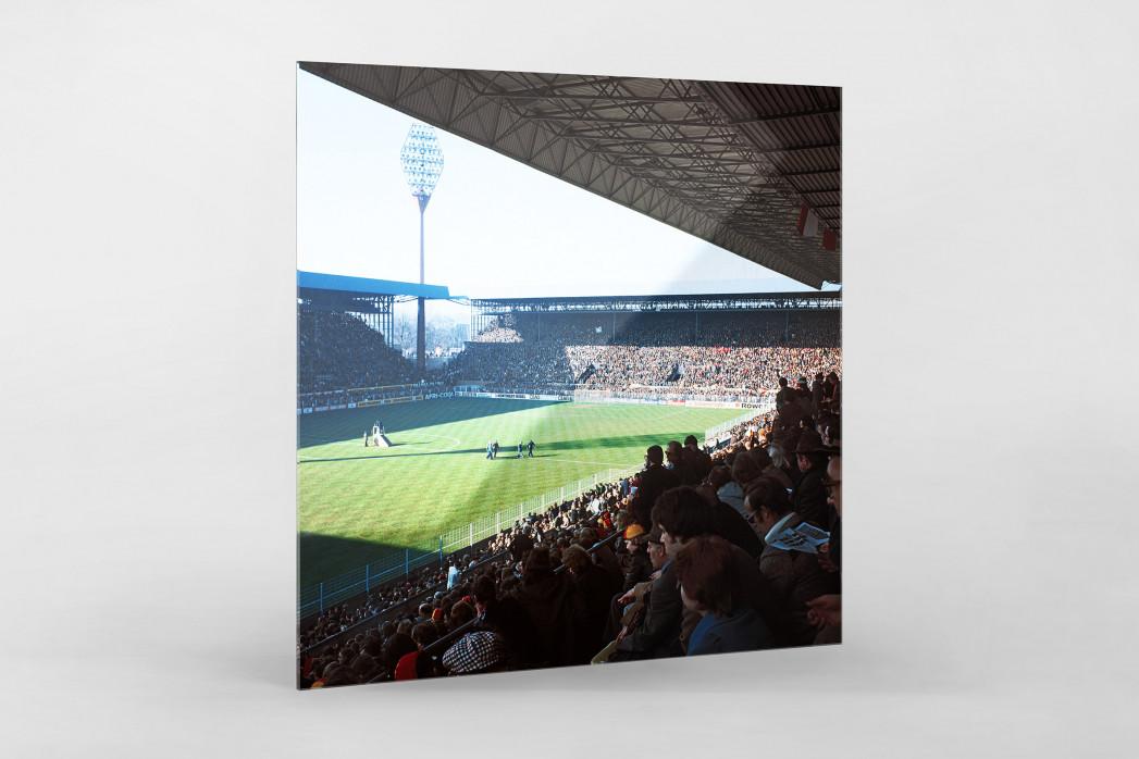 Westfalenstadion 1976 als Direktdruck auf Alu-Dibond hinter Acrylglas