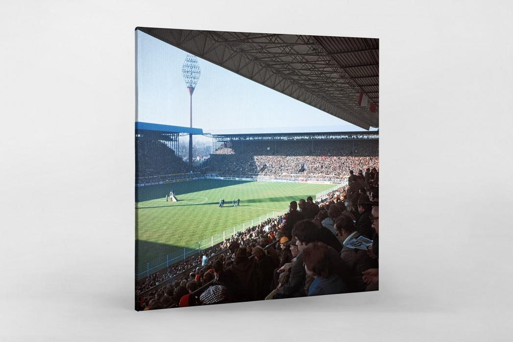 Westfalenstadion 1976 als Leinwand auf Keilrahmen gezogen