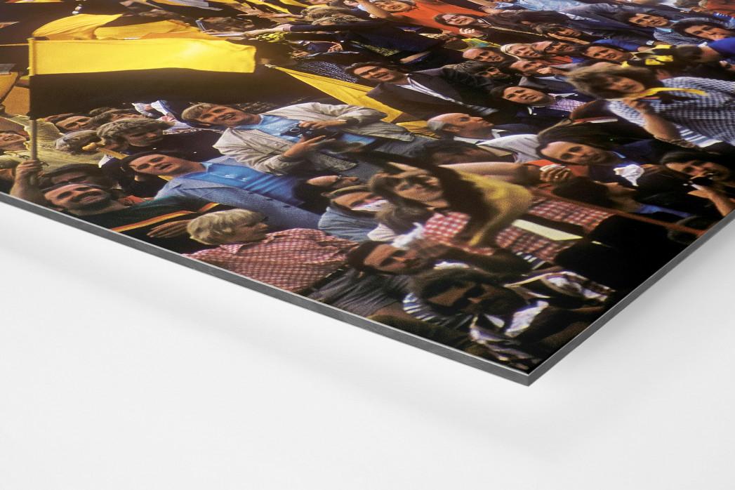 Dresden Fans  als auf Alu-Dibond kaschierter Fotoabzug (Detail)