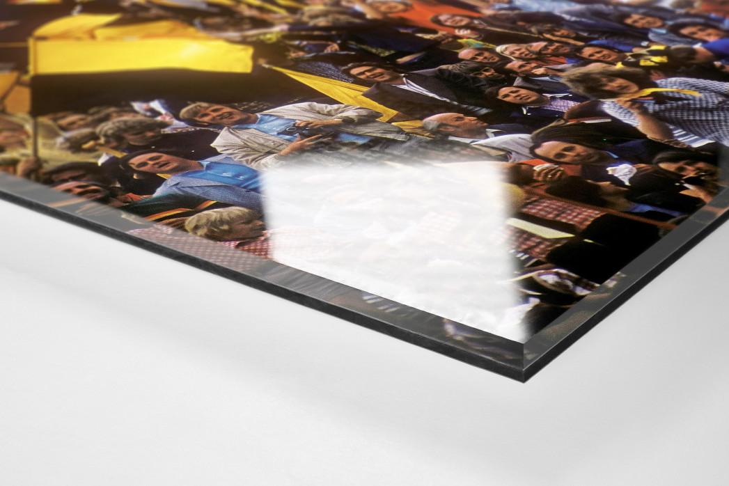 Dresden Fans  als Direktdruck auf Alu-Dibond hinter Acrylglas (Detail)