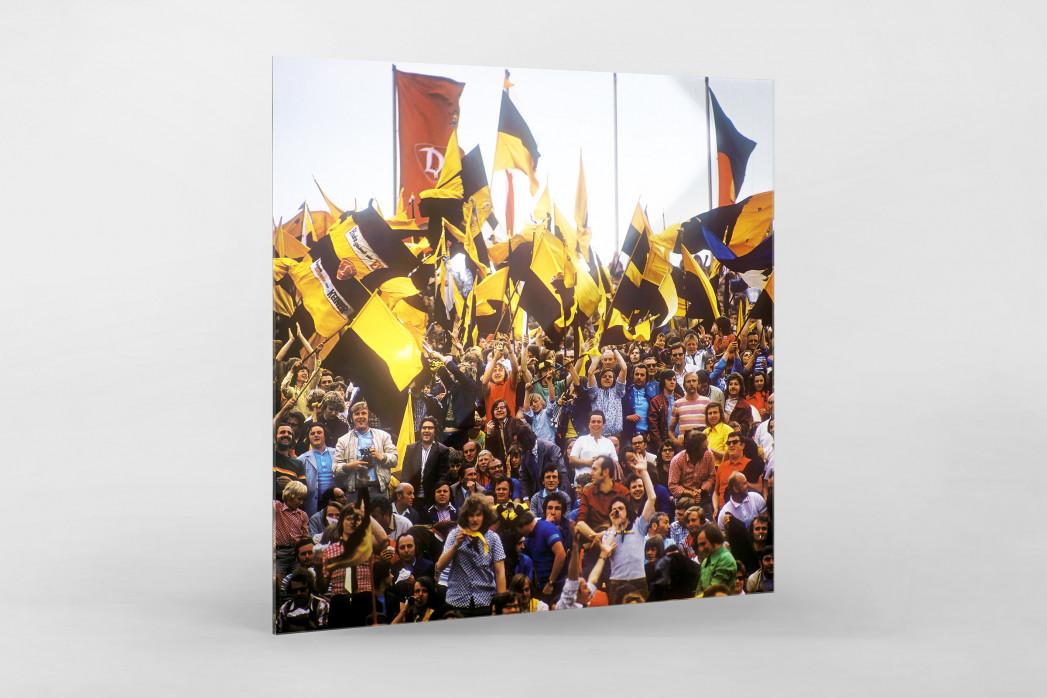 Dresden Fans  als Direktdruck auf Alu-Dibond hinter Acrylglas
