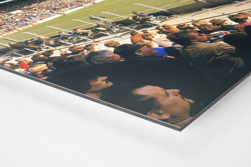 Ruhrstadion 1981 als auf Alu-Dibond kaschierter Fotoabzug (Detail)