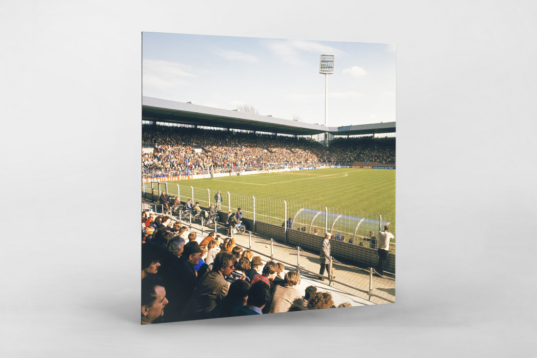 Ruhrstadion 1981 als auf Alu-Dibond kaschierter Fotoabzug