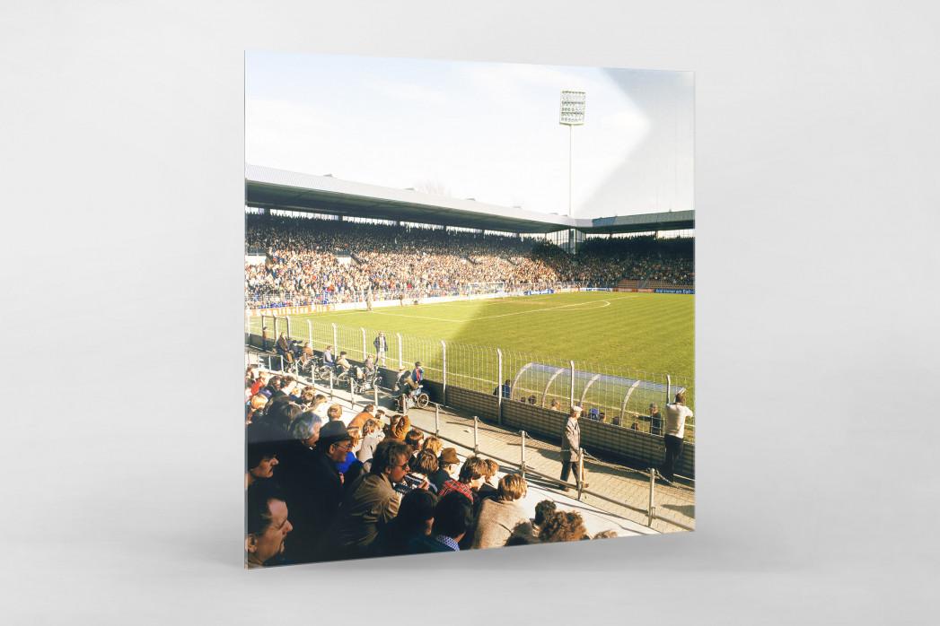 Ruhrstadion 1981 als Direktdruck auf Alu-Dibond hinter Acrylglas