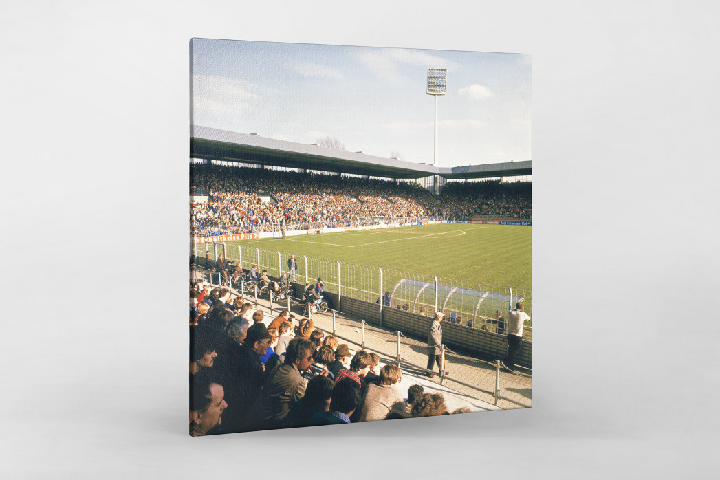 Ruhrstadion 1981 als Leinwand auf Keilrahmen gezogen
