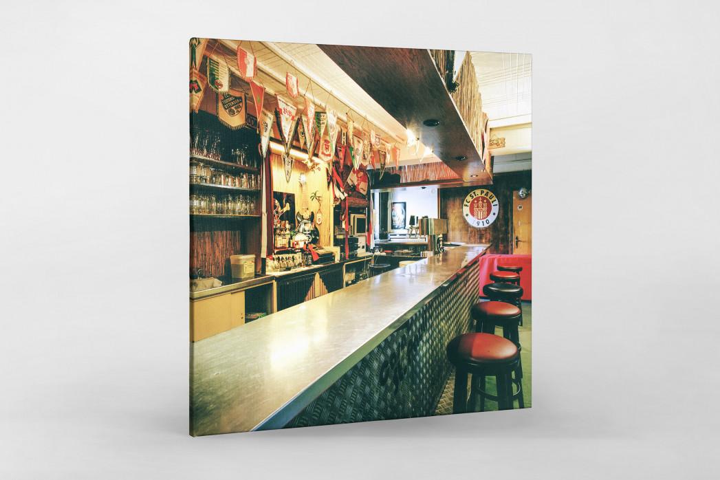 Bar im Klubheim St. Pauli als Leinwand auf Keilrahmen gezogen