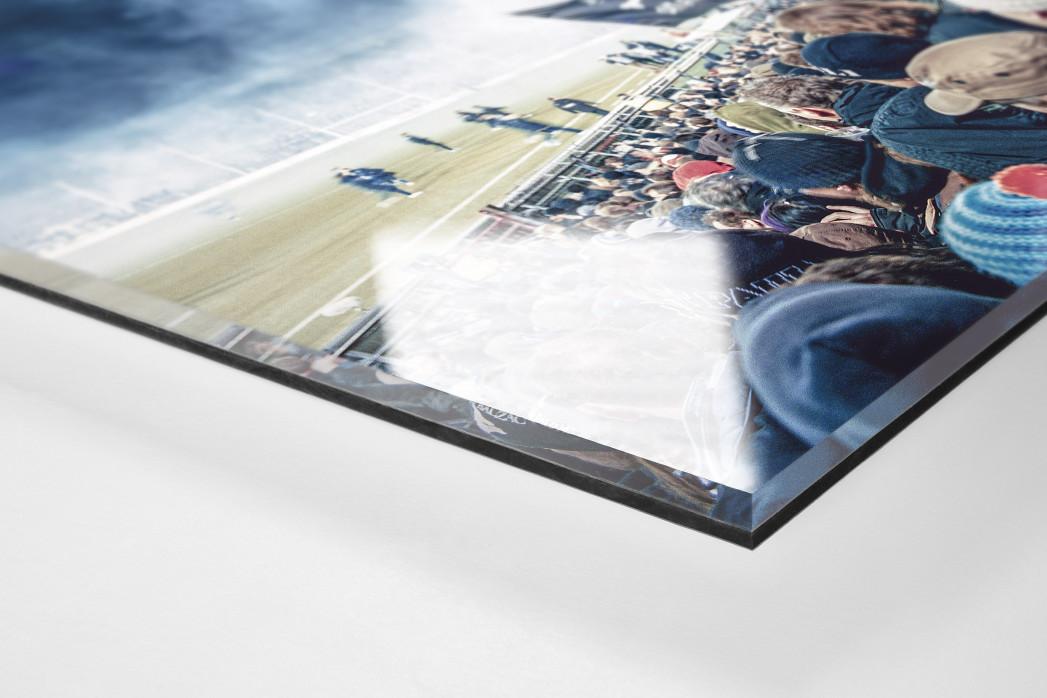 Köpfe der Gegengerade als Direktdruck auf Alu-Dibond hinter Acrylglas (Detail)