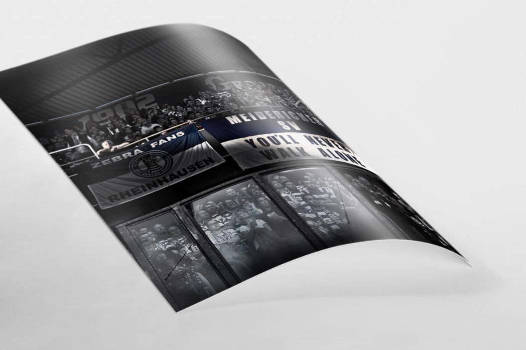 MSV Fans auf der Tribüne als FineArt-Print