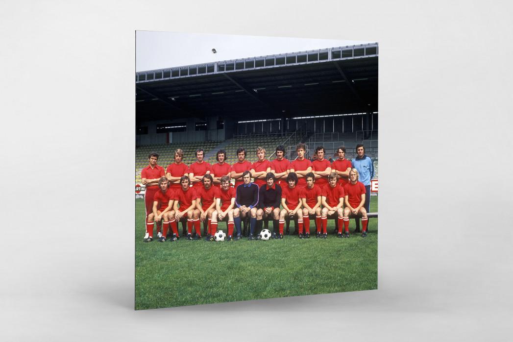 Kaiserslautern 1973/74 als auf Alu-Dibond kaschierter Fotoabzug