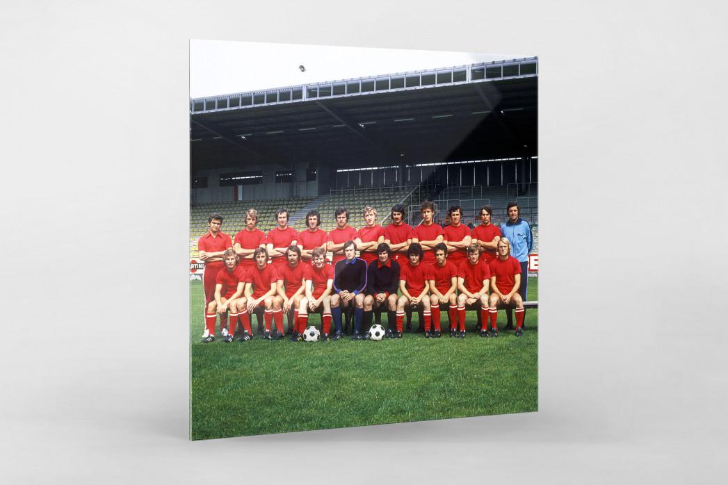 Kaiserslautern 1973/74 als Direktdruck auf Alu-Dibond hinter Acrylglas