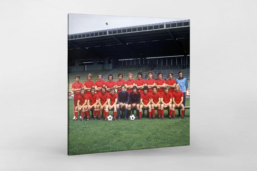 Kaiserslautern 1973/74 als Leinwand auf Keilrahmen gezogen