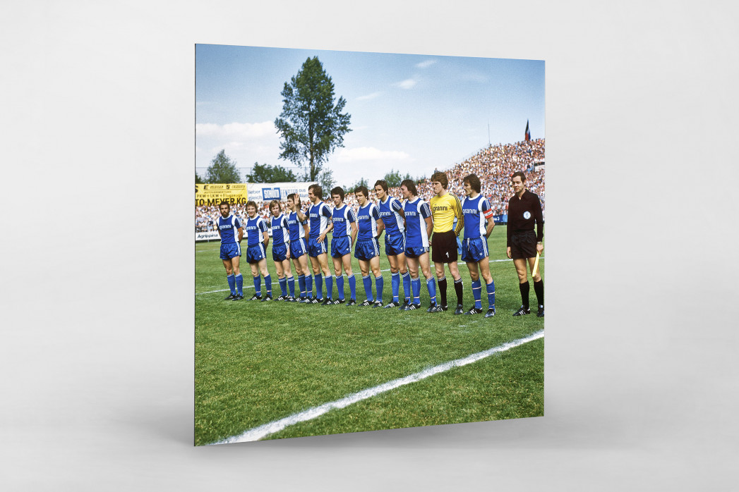 Bielefeld 1977 als auf Alu-Dibond kaschierter Fotoabzug