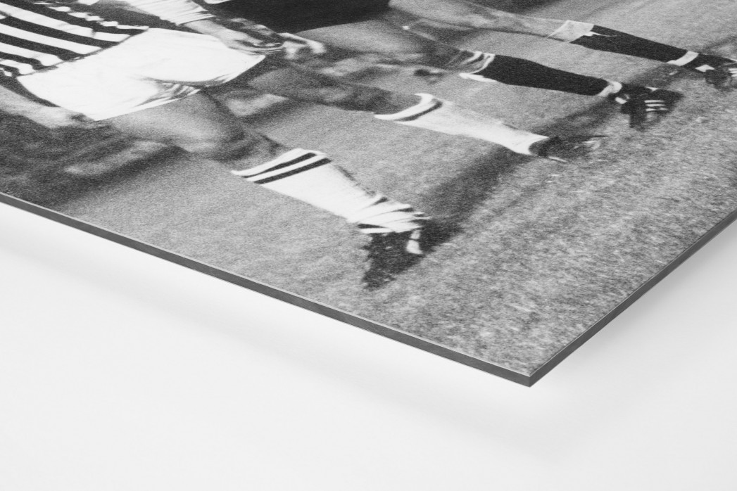 Dresden vs. Juve als auf Alu-Dibond kaschierter Fotoabzug (Detail)