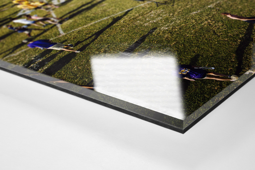 Auf dem Rasen im Tiger Stadium als Direktdruck auf Alu-Dibond hinter Acrylglas (Detail)