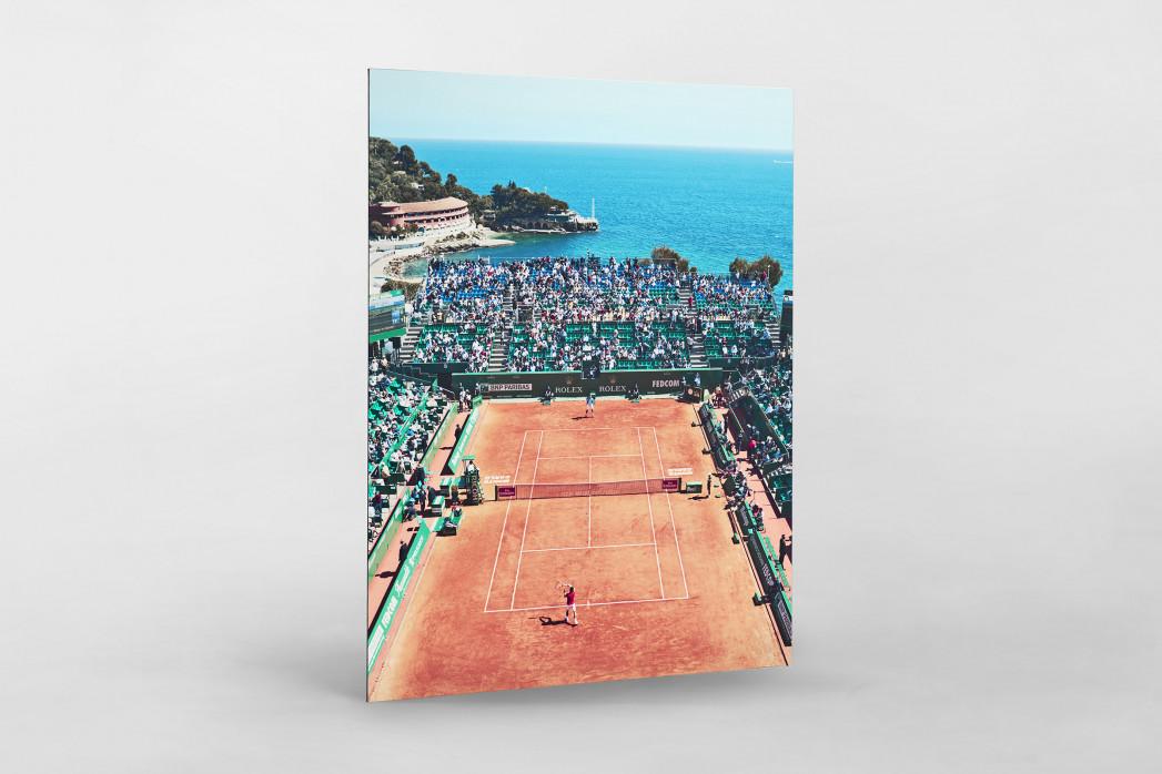 Tennis mit Aussicht als auf Alu-Dibond kaschierter Fotoabzug