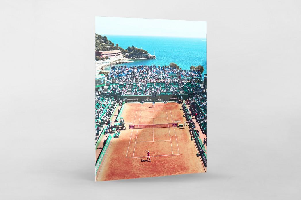 Tennis mit Aussicht als Direktdruck auf Alu-Dibond hinter Acrylglas
