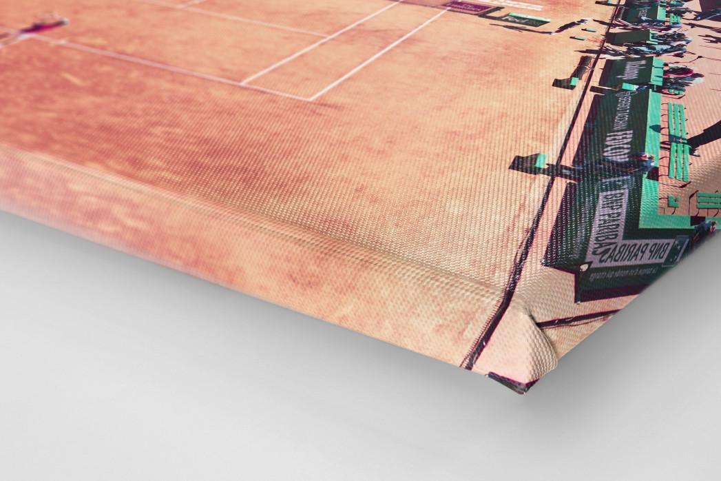 Tennis mit Aussicht als Leinwand auf Keilrahmen gezogen (Detail)
