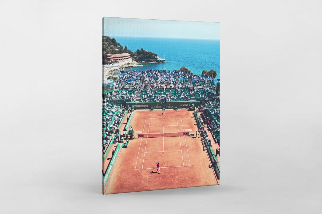 Tennis mit Aussicht als Leinwand auf Keilrahmen gezogen