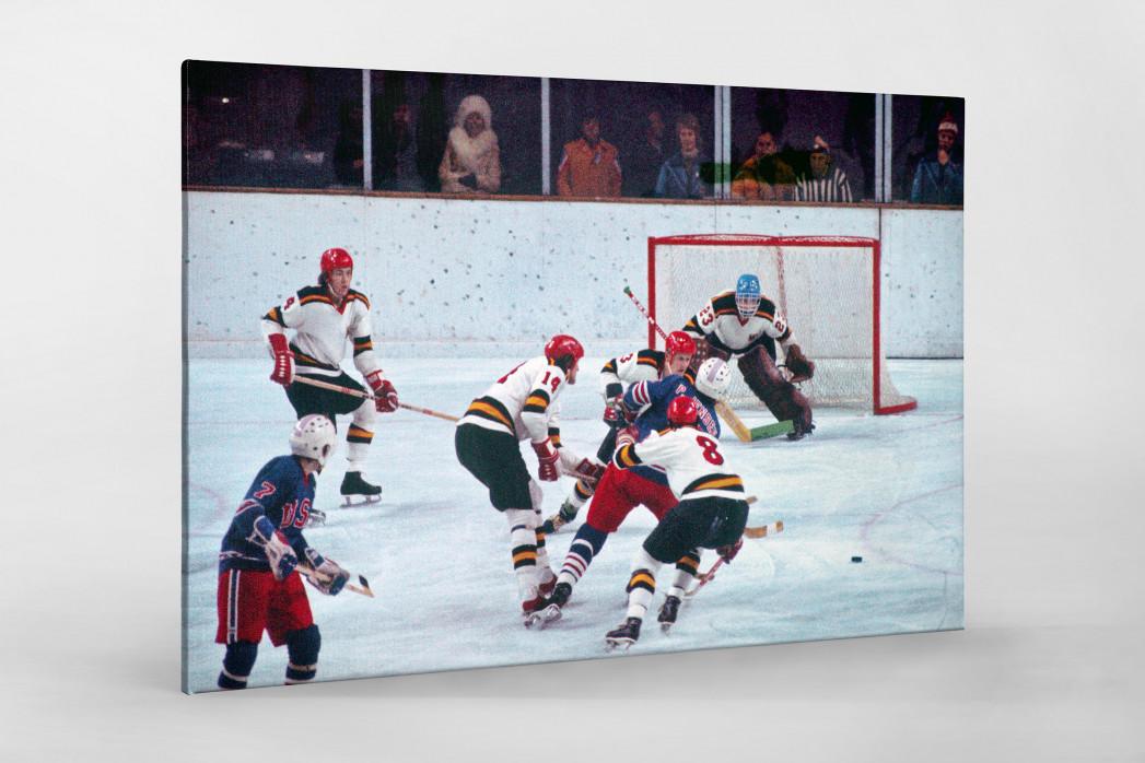 BRD vs. USA 1976 als Leinwand auf Keilrahmen gezogen