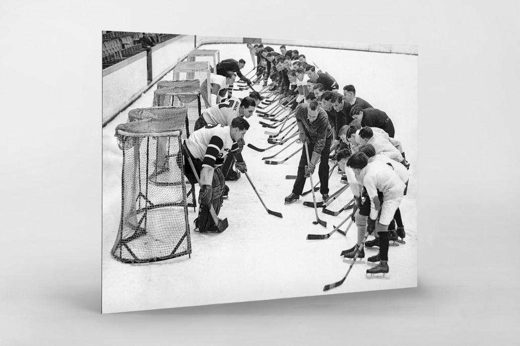 Eishockeytraining in der Wembley Arena als auf Alu-Dibond kaschierter Fotoabzug