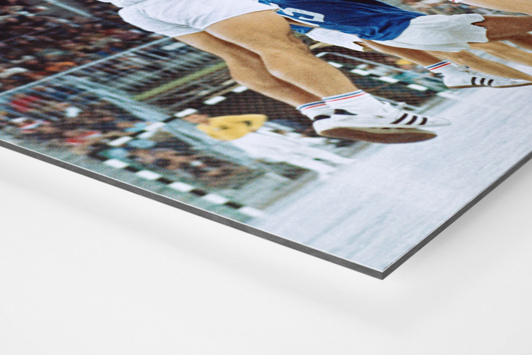 Handball Finale 1972  als auf Alu-Dibond kaschierter Fotoabzug (Detail)