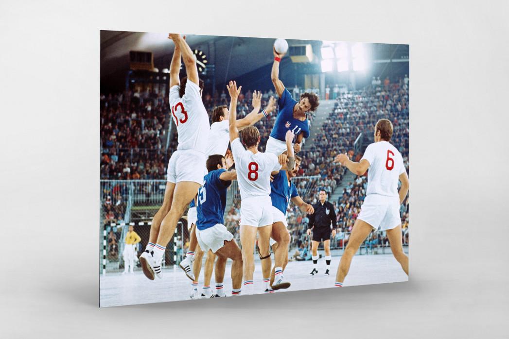 Handball Finale 1972  als auf Alu-Dibond kaschierter Fotoabzug