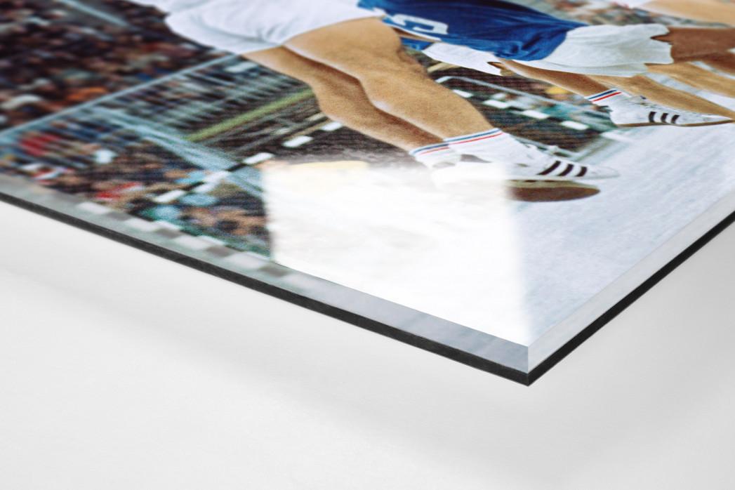 Handball Finale 1972  als Direktdruck auf Alu-Dibond hinter Acrylglas (Detail)