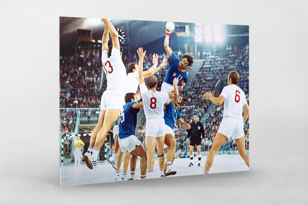 Handball Finale 1972  als Direktdruck auf Alu-Dibond hinter Acrylglas