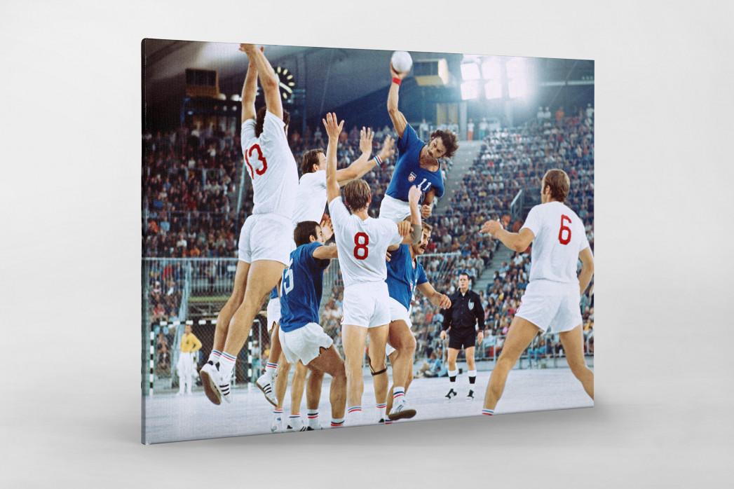 Handball Finale 1972  als Leinwand auf Keilrahmen gezogen