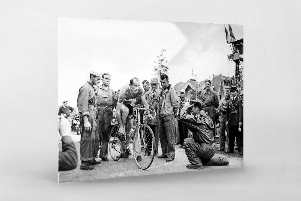 Vor der 7. Etappe bei der Tour 1951 als Direktdruck auf Alu-Dibond hinter Acrylglas