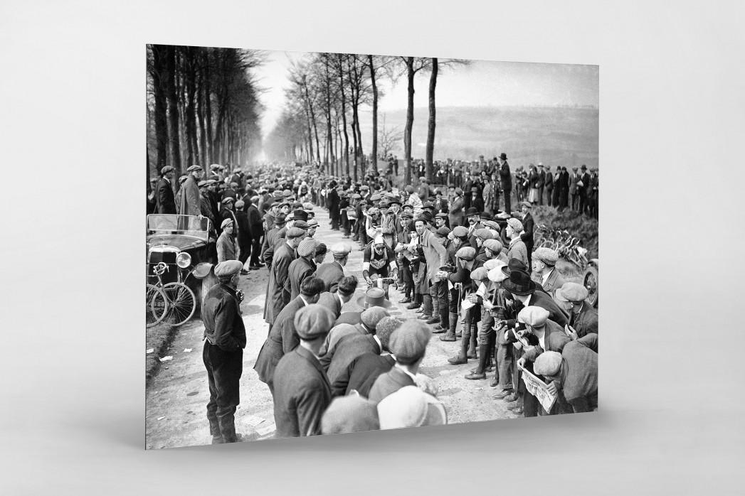Schaulustige bei Paris-Roubaix als auf Alu-Dibond kaschierter Fotoabzug