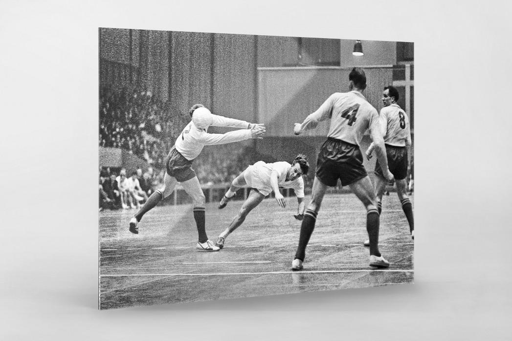 Handball 1961 als Direktdruck auf Alu-Dibond hinter Acrylglas