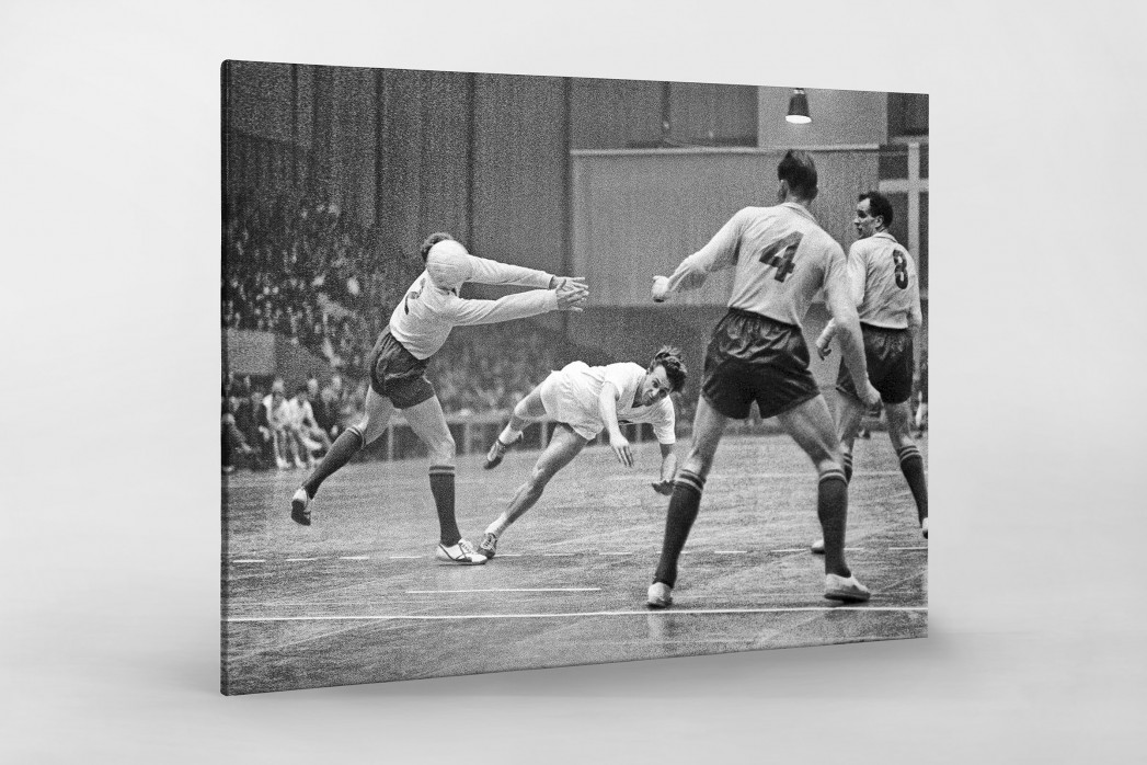 Handball 1961 als Leinwand auf Keilrahmen gezogen