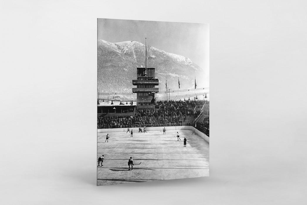 Kanada vs. Österreich 1930 als auf Alu-Dibond kaschierter Fotoabzug