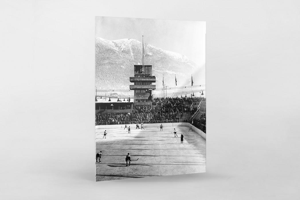 Kanada vs. Österreich 1930 als Direktdruck auf Alu-Dibond hinter Acrylglas