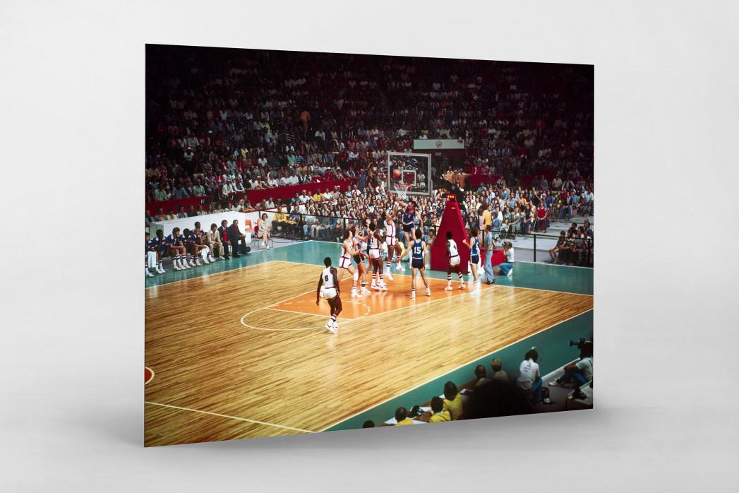 Jugoslawien vs. USA 1976 als auf Alu-Dibond kaschierter Fotoabzug