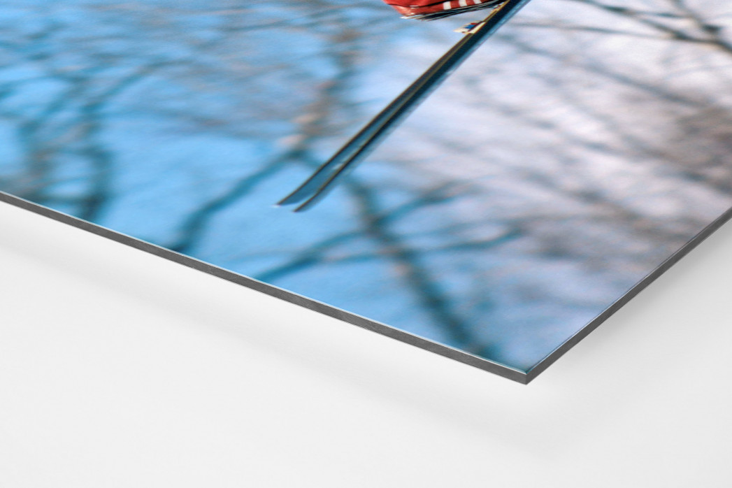 Skisprung am Lake Placid als auf Alu-Dibond kaschierter Fotoabzug (Detail)