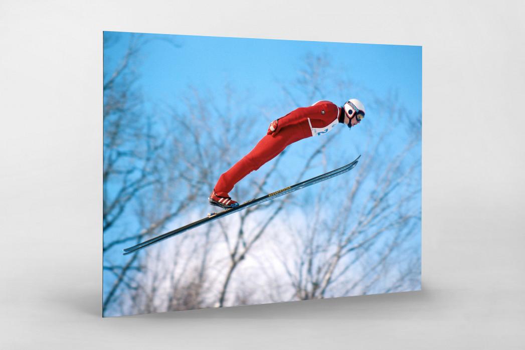 Skisprung am Lake Placid als auf Alu-Dibond kaschierter Fotoabzug