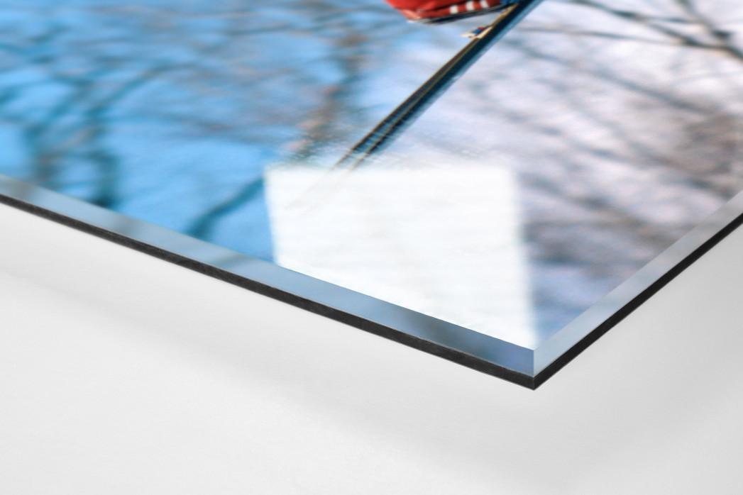 Skisprung am Lake Placid als Direktdruck auf Alu-Dibond hinter Acrylglas (Detail)