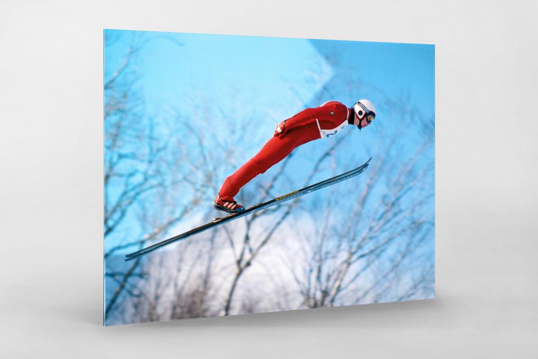 Skisprung am Lake Placid als Direktdruck auf Alu-Dibond hinter Acrylglas