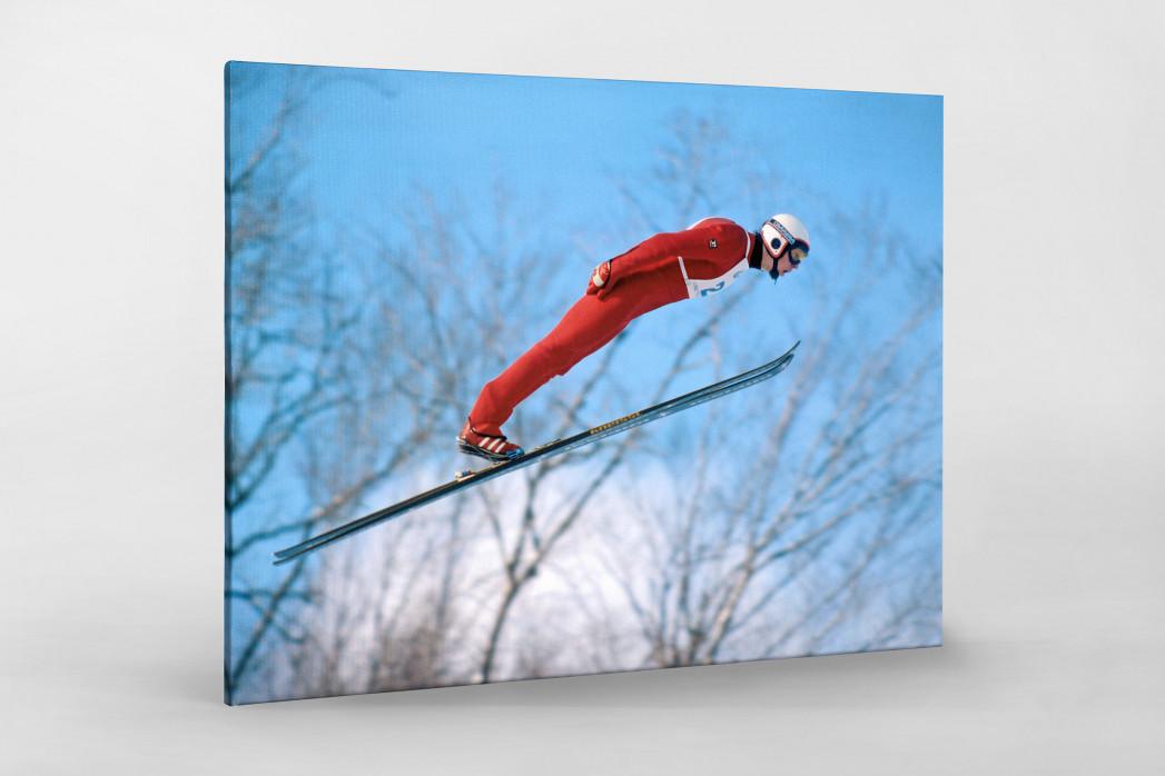 Skisprung am Lake Placid als Leinwand auf Keilrahmen gezogen
