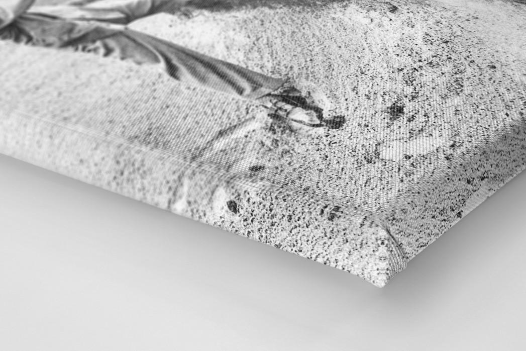 Ein kraftvoller Schlag als Leinwand auf Keilrahmen gezogen (Detail)