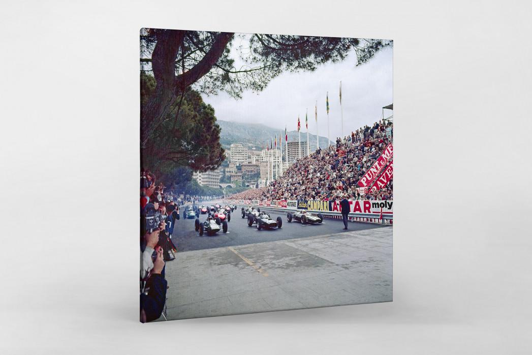 Monaco 1962 als Leinwand auf Keilrahmen gezogen