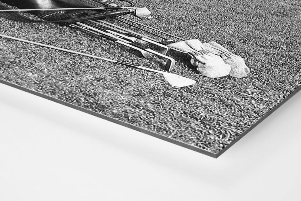 Abschlagtraining als auf Alu-Dibond kaschierter Fotoabzug (Detail)
