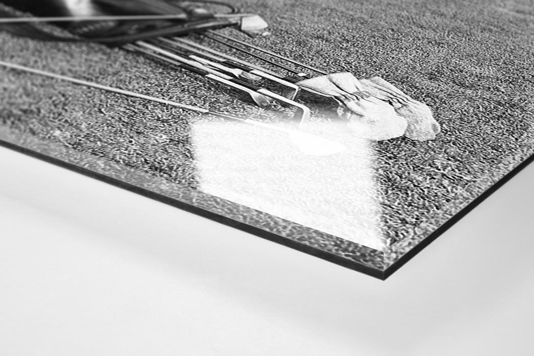 Abschlagtraining als Direktdruck auf Alu-Dibond hinter Acrylglas (Detail)